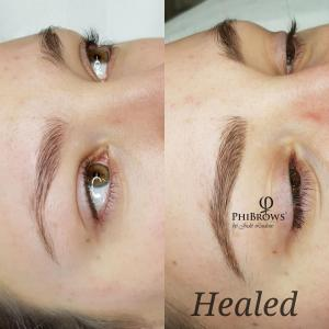 Healed microblading