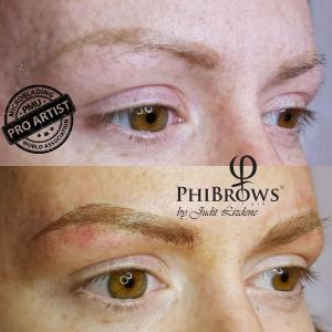 Covering old permanent make up